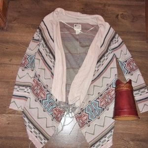 womans boho western country sweater cover up coat